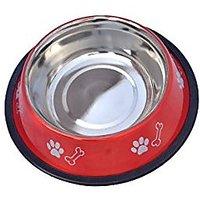 PETHUB Standard Dog Food Bowl -460ml-Red