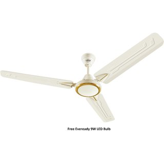 Eveready 1200mm SUPER Fab M 48 inch Ceiling Fan Cream