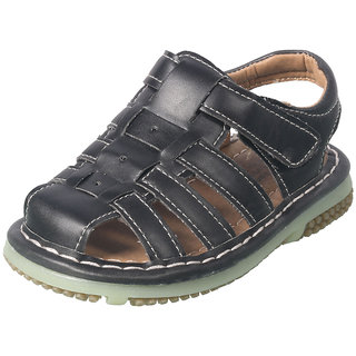 ACTION SHOES DOTCOM KIDS SANDALS T-48-BLACK