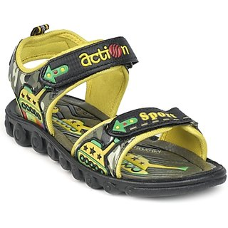 ACTION SHOES DOTCOM KIDS SANDALS KS-510-YELLOW