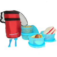 Varmora Full Day Meal Lunch Combo With Fork N Spoon With Insulated Bag