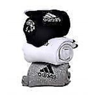 Adidas Socks - Sports Ankle Cotton No Sweat Towel Socks 3 Pairs Pack