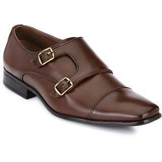 Afrojack Men Brown Buckle Formal Shoes