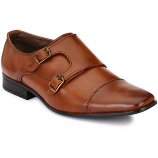 Afrojack Men Tan Buckle Formal Shoes