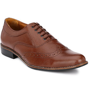 Afrojack Men Brown Lace-up Formal Shoes