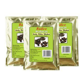 Radico 100 organic Amla-Ritha-Shikakai Powder - 100g (Set of 3)