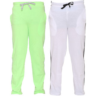 Vimal Multicolor Cotton Blended Trackpants For Boys(Pack Of 2)