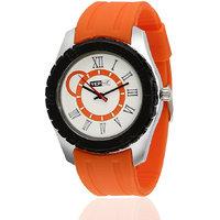 Yepme Rumata Mens Watch - White  Orange