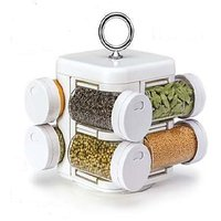 Spice Jars, Multipurpose, Compact, 8 In One, Rotating, Kitchen Spice Jar