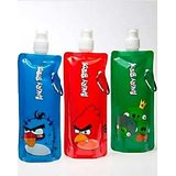 Set Of 3 Angry Birds Foldable Reusable Water Bottle.