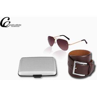 Combo Pack Of Belt Sunglasses & Wallat