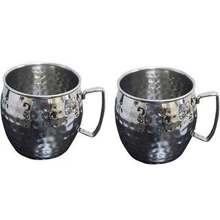 Set of 2 Hammered Beer Mug