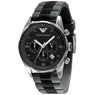 Armani Watch,Emporio Armani Sportivo Chronograph Rubber Strap Watch AR0595