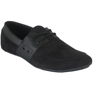 Lords Mens Black Casual Lace-Ups Shoes