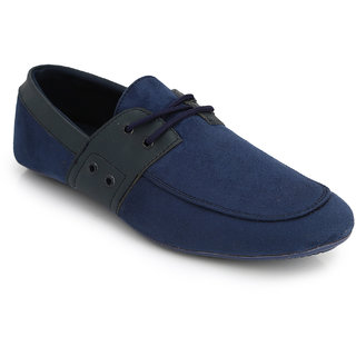 Lords Mens Blue Casual Lace-Ups Shoes