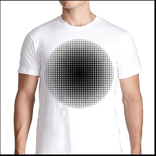 J Morgan Men's White Printed T Shirt (Option - 11)