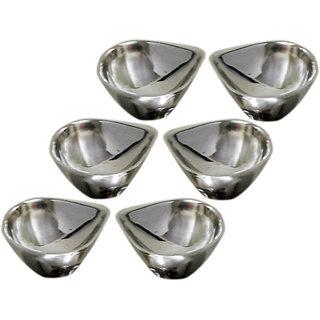 6 pcs stainless steel diya set