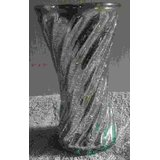 Glass Flower Pot With Real Silver Water Coating  ( Flower Vase)-K35A