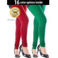 Pack of 2 Cotton Leggings - 16 Color Option