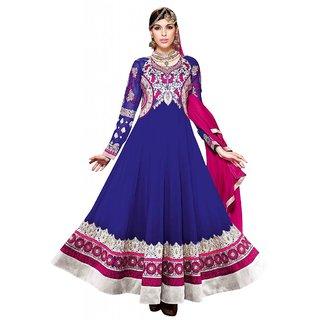 Triveni Glamorous Embroidered Wedding Wear Faux Georgette Anarkali Suit