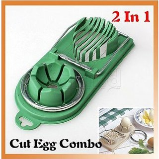 2 in 1 Boiled Egg Slicer-Cutter