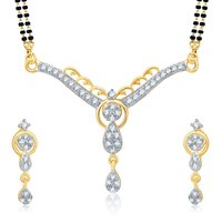 Sukkhi Trendy Gold And Rhodium Plated Cubic Zirconia Stone Studded Mangalsutra Set