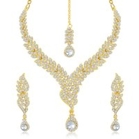 Sukkhi Gold Plated Multicolor Gold Necklace Set For Women