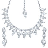 Sukkhi Youthful Rhodium Plated Australian Diamond Stone Studded Necklace Set