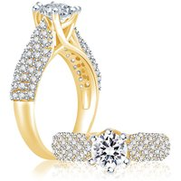 Sukkhi Sublime Gold and Rhodium Plated Cubic Zirconia Stone Studded Solitaire Ring