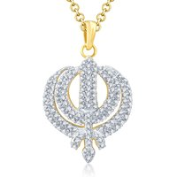Sukkhi Charming Gold and Rhodium Plated Cubic Zirconia Stone Studded God Pendant