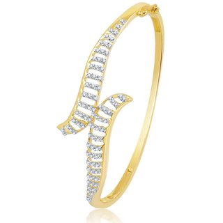 Sukkhi Gleaming Gold and Rhodium Plated Cubic Zirconia Stone Studded Kada