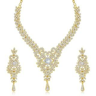 Sukkhi Exquitely Gold Plated Australian Diamond Stone Studded Necklace Set