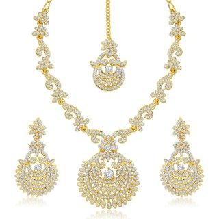 Sukkhi Incredible Gold Plated Australian Diamond Stone Studded Necklace Set