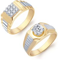 Sukkhi Angelic 2 Piece Ring Combo for Men