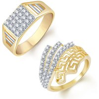 Sukkhi Divine 2 Piece Ring Combo for Men and Women