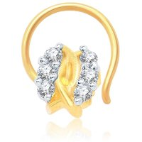 Sukkhi Modern Gold And Rhodium Plated CZ Nose Pin