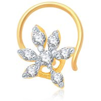 Sukkhi Appealing Gold And Rhodium Plated Cz Nose Pin