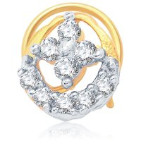 Sukkhi Sublime Gold and Rhodium Plated CZ Nose Pin