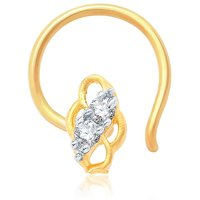 Sukkhi Indian Gold and Rhodium Plated CZ Nose Pin