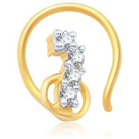 Sukkhi Cluster Gold and Rhodium Plated CZ Nose Pin