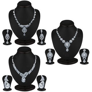 Sukkhi Marvelous 3 Piece Necklace Set Combo