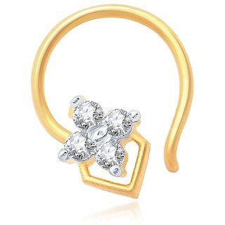 Sukkhi Shimmering Gold and Rhodium Plated CZ Nose Pin
