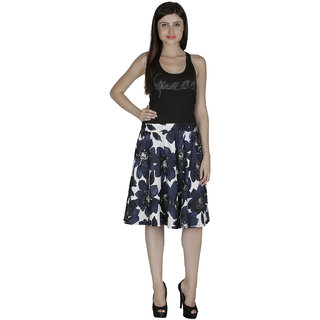 Smart and Glam Crape A-Line skirt for women 607