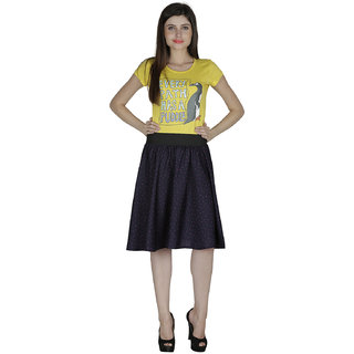 Smart and Glam Crape A-Line skirt for women 610