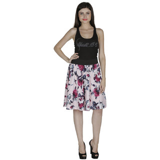 Smart and Glam Crape A-Line skirt for women 611