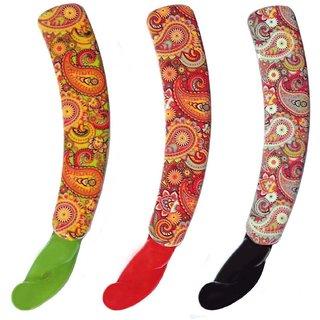 Shreya Collection Combo of 3 Multicolour Banana Hair Clips  1001267