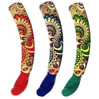 Shreya Collection Combo of 3 Multicolour Banana Hair Clips  1001269
