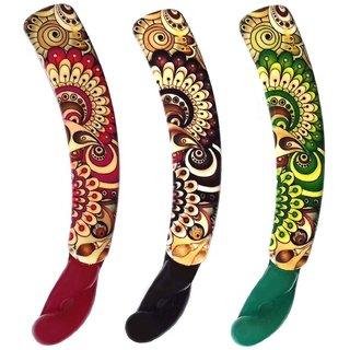 Shreya Collection Combo of 3 Multicolour Banana Hair Clips  1001270
