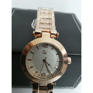 Watch GC Women Watch With White Dial And Golden Case And Strip