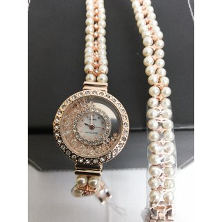 Watch  Seven Princess Women Watch With White Dial And Pears Bracelet